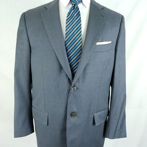 ISAIA Napoli Mens Gray Pinstripe 2Button Wool Suit